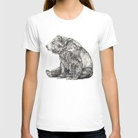 panda T-shirts featuring Bear // Graphite by Sandra Dieckmann