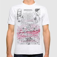 madman's declaration Mens Fitted Tee Ash Grey SMALL