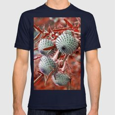 THISTLE In RED Mens Fitted Tee Navy SMALL