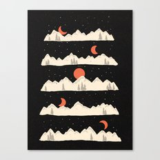Moonrises...Moonsets... Canvas Print