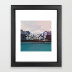 Escape x Alaska Framed Art Print