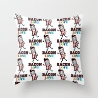 Bacon Love Throw Pillow