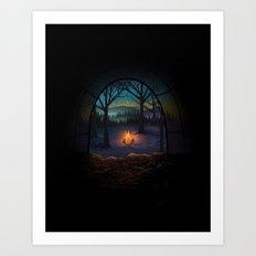 Bonfire Art Print