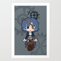 Steampunk Sailor Mercury Art Print