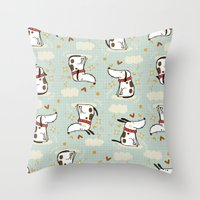 DOGGY IN THE SKY Throw Pillow