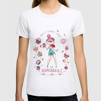 Cupcakes Womens Fitted Tee Ash Grey SMALL