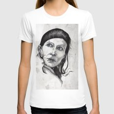 Salander I Womens Fitted Tee White SMALL