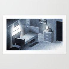 Denim Room Art Print