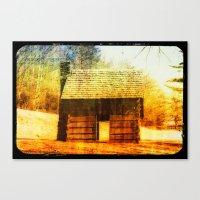 Vintage Cabin Canvas Print