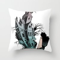 The House Of Usher Throw Pillow