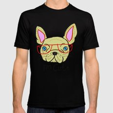 I'm Cute French Bulldog Mens Fitted Tee Black SMALL
