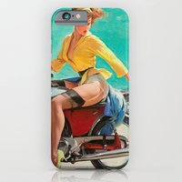 iPhone & iPod Case featuring Gil Elvgren - Motorcycle Pinup Girl by TilenHrovatic