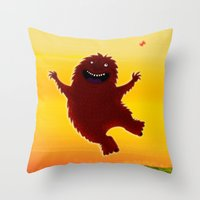 I found a bigfoot Throw Pillow