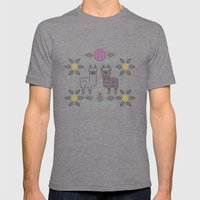 Alpacas Mens Fitted Tee Tri-Grey SMALL