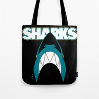 In the Jaws of the Sharks Tote Bag