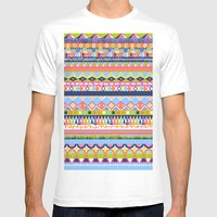 Summer Doodle Mens Fitted Tee White SMALL