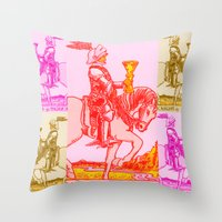Knights Be Knighting Throw Pillow