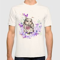 Little Owl Mens Fitted Tee Natural SMALL