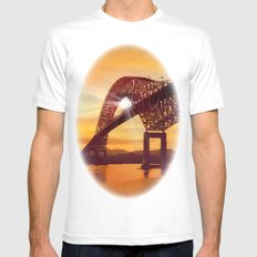 Pan-American Bridge SMALL White Mens Fitted Tee