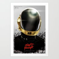 Daft Punk I Art Print
