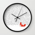 Black grass Wall Clock