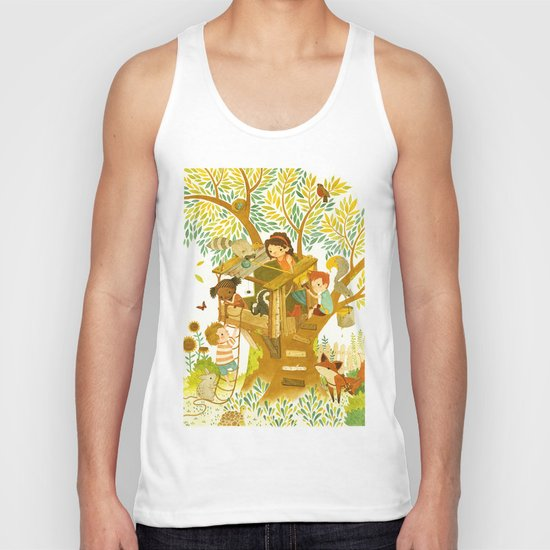 Our House In the Woods Unisex Tank Top