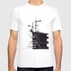 French rooftops SMALL Mens Fitted Tee White