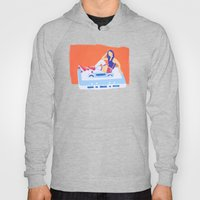 80's Girl Roller Skater  - Music Tape Hoody