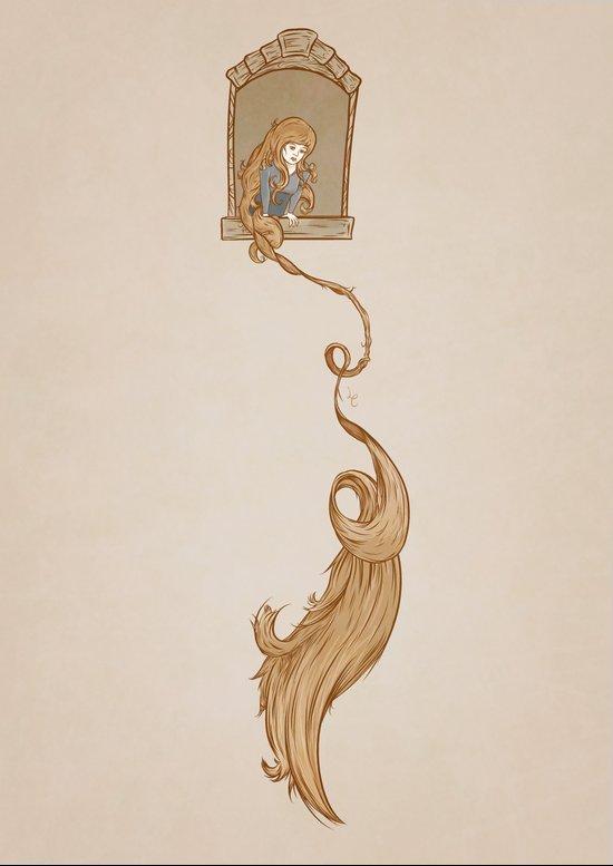 Rapunzel. Art Print
