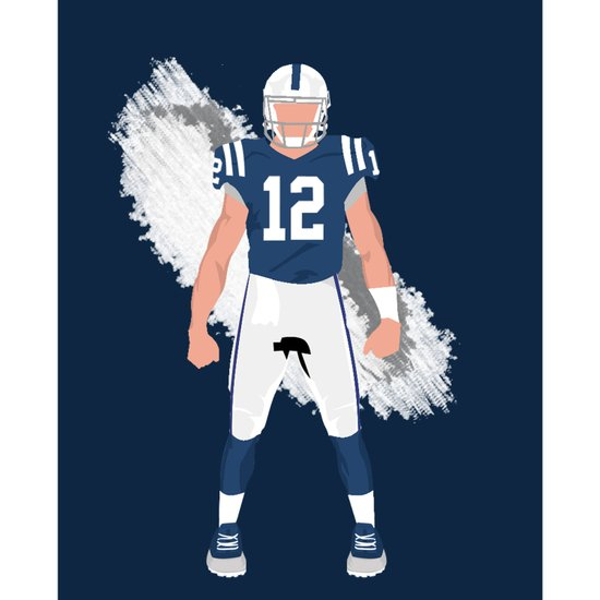 ColtStrong - Andrew Luck Art Print