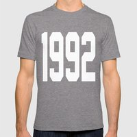 1992 Mens Fitted Tee Tri-Grey SMALL