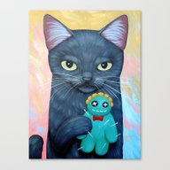 Canvas Print featuring GREEN VOODOO DOLL by Cary Chun Lee