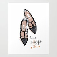 Love At F... Lat Sight Art Print