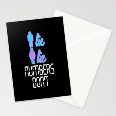 Men Lie, Women Lie, Numbers Don't Stationery Cards