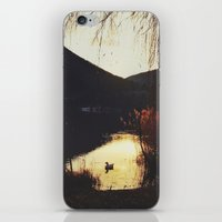 Sunset by the lake iPhone & iPod Skin