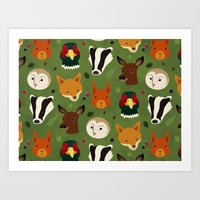 British Woodlands Art Print