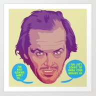 Art Print featuring THE SHINING by Mike Wrobel