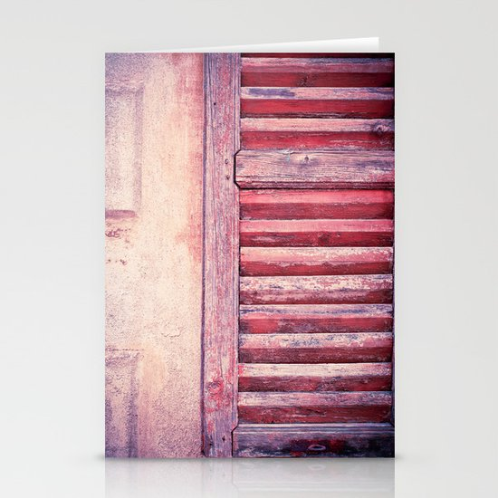 Moody weathered shutter Stationery Card