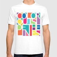 Outside The Lines Mens Fitted Tee White SMALL