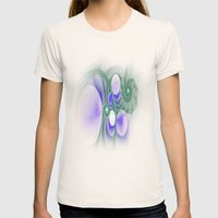 Fantastic Fractal Womens Fitted Tee Natural SMALL