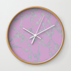Trapped Pink Wall Clock