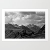 Black Mountains Art Print