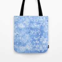 Abstract Snow Flakes On … Tote Bag