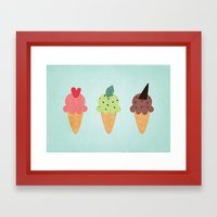 Ice Cream Fantasy Framed Art Print