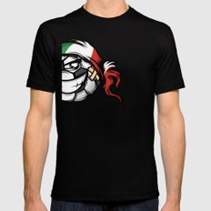 Football - Italy SMALL Black Mens Fitted Tee