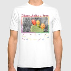 Three Spiky Ones SMALL White Mens Fitted Tee