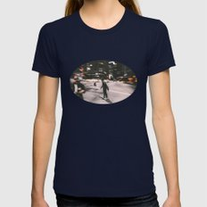 Skate in street 4 Womens Fitted Tee Navy SMALL