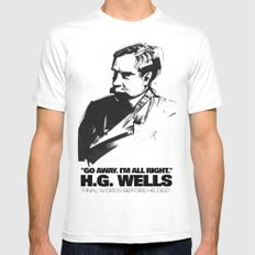 H.G. Wells last words Mens Fitted Tee White SMALL
