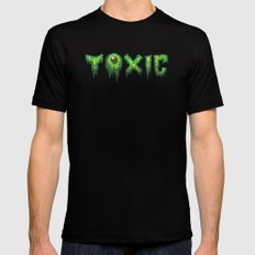 Toxic Surfer SMALL Mens Fitted Tee Black