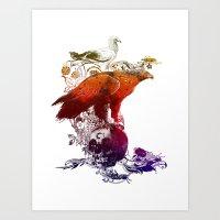 The Watchers 3 Color Ver… Art Print